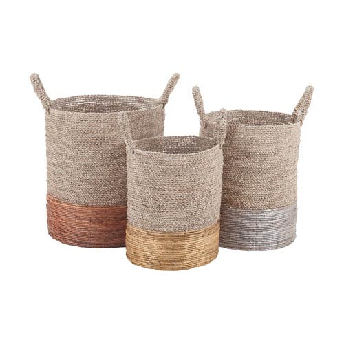 Nested Mixed Metallics Baskets