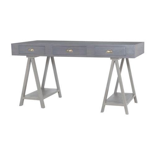 Huffman Antique Smoke Three-Drawer Desk