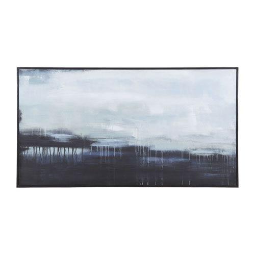 Dark Strand Hand Painted Canvas Wall Decor with Black Mahogany Frame