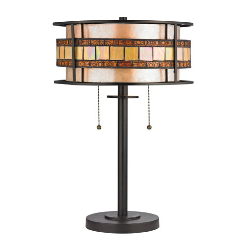 Annondale Tiffany Bronze Two Light Table Lamp