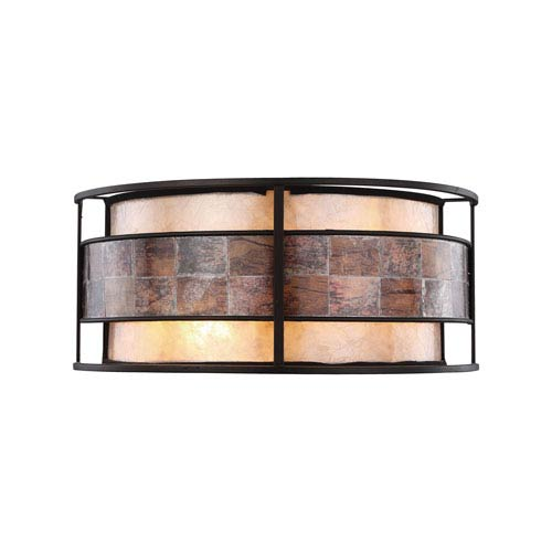 Elk Lighting Tremont Tiffany Bronze 14-Inch Two-Light Wall Sconce