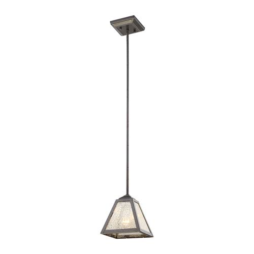 Elk Lighting Plano Iron Rust 7-Inch One-Light Mini Pendant