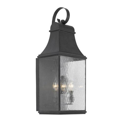Elk Lighting Jefferson Charcoal Three Light Outdoor Wall Sconce