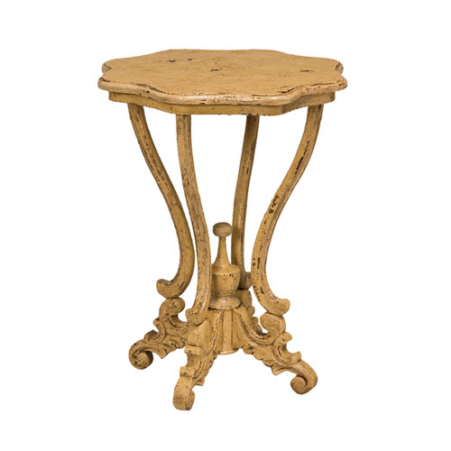 Handpainted Dijon Yellow Side Table