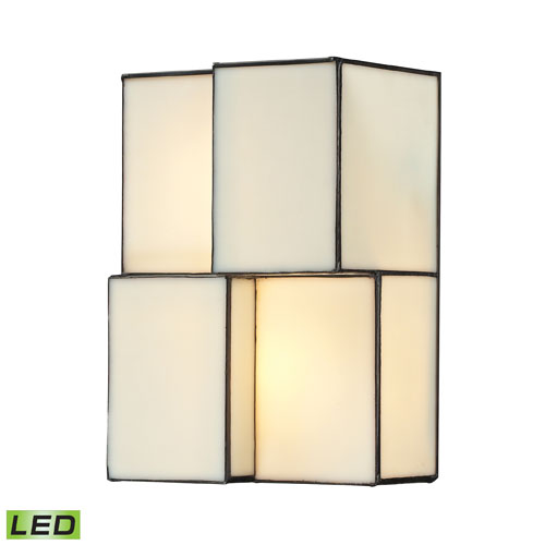 Cubist Brushed Nickel 10-Inch Two Light Wall Sconce