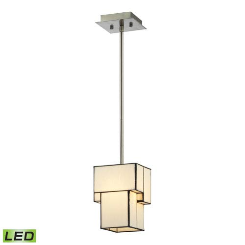 Elk Lighting Cubist Brushed Nickel 9-Inch LED One Light Mini Pendant