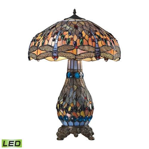 Dragonfly Dark Bronze LED 26-Inch Three Light Table Lamp