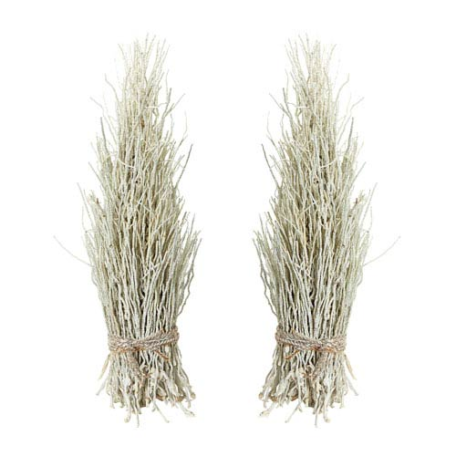 White Washed Cocoa Twig Sheaf - Set of Two