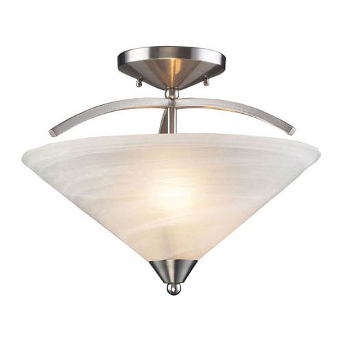 Elysburg Satin Nickel Semi-Flush Ceiling Light