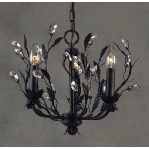 Circeo Three-Light Deep Rust Chandelier