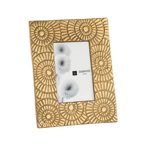 Ripple Ring Gold Six-Inch Frame