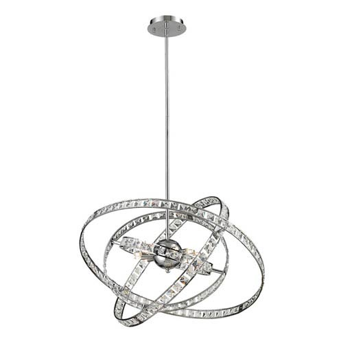 Elk Lighting Saturn Chrome Six Light Chandelier