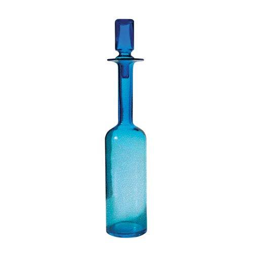 Decanter Blue 21-Inch Vase