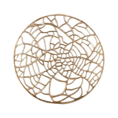 Spider Silk Champagne Wall Sculpture