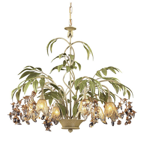 Huarco Seashell Six-Light Chandelier