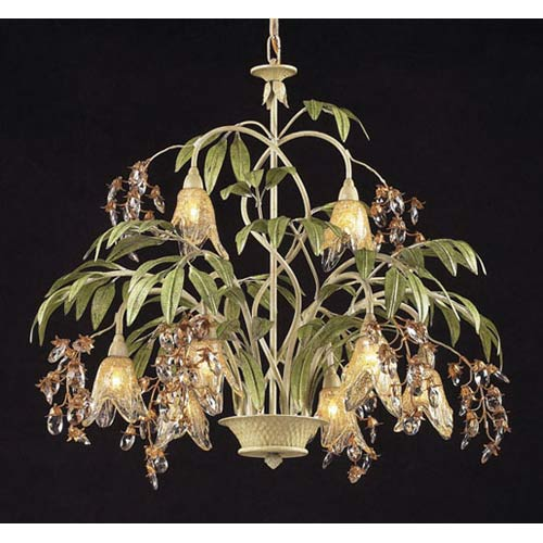 Huarco Seashell Eight-Light Chandelier