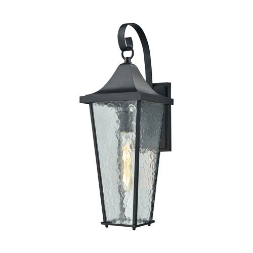 Vinton Matte Black One-Light Outdoor Wall Lantern