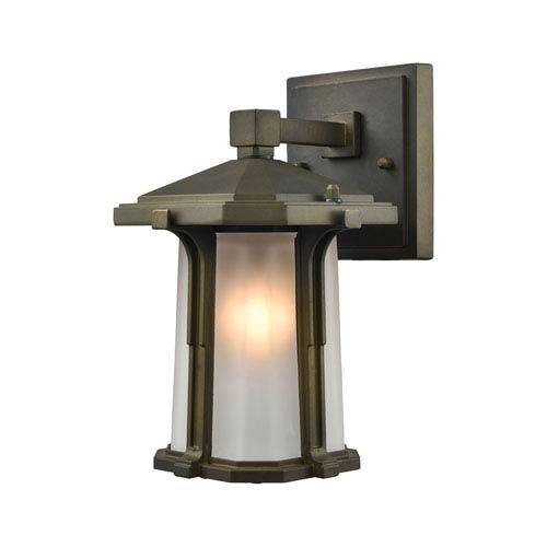 Brighton Smoked Bronze 6-Inch One-Light Outdoor Wall Lantern