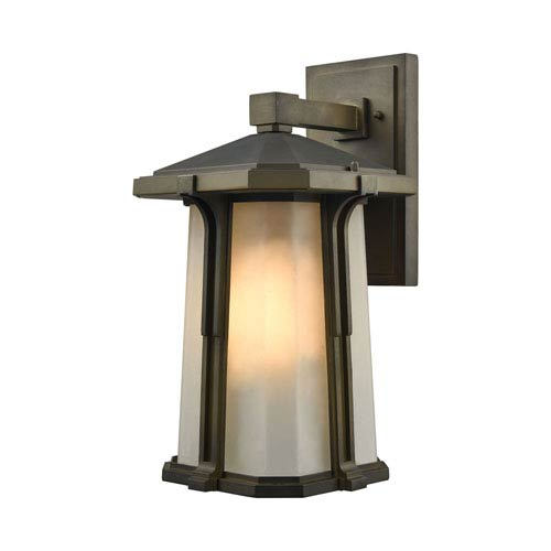 Brighton Smoked Bronze 9-Inch One-Light Outdoor Wall Lantern