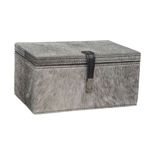 Hairon Leather Grey Nine-Inch Box