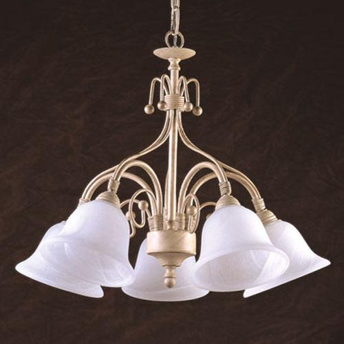 Hampton Antique White Five Light Chandelier
