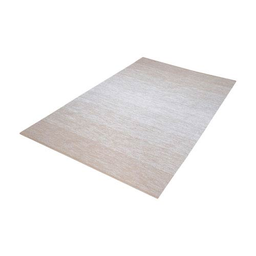 Delight Handmade Beige and White 3 ft. x 5 ft. Cotton Rug