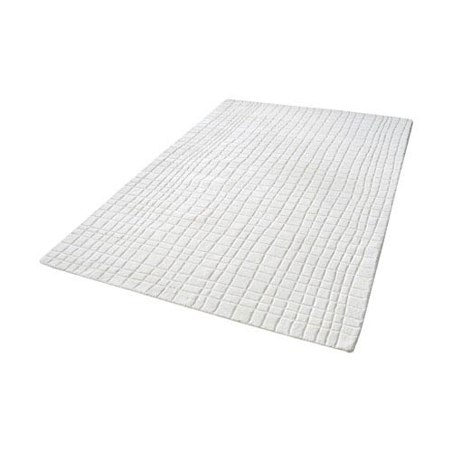 Blockhill Handwoven Cream 5 ft. x 8 ft. Wool Rug