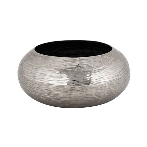 Hammered Nickel 11-Inch Bowl