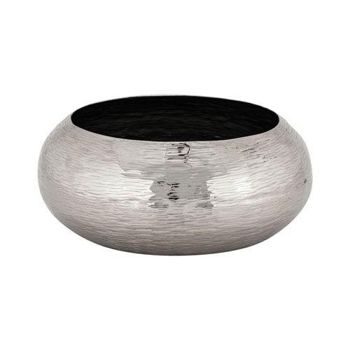 Hammered Nickel 16-Inch Bowl