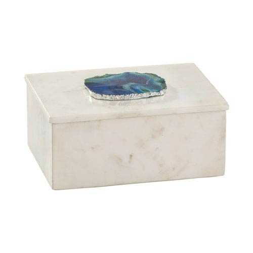 Blue Agate and Marble Seven-Inch Box