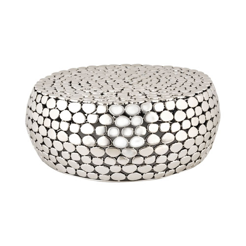 Pebble Nickel Accent Table