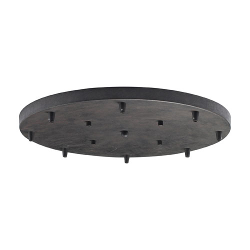 Illuminare Accessories Eight-Light Round Pan in Dark Rust