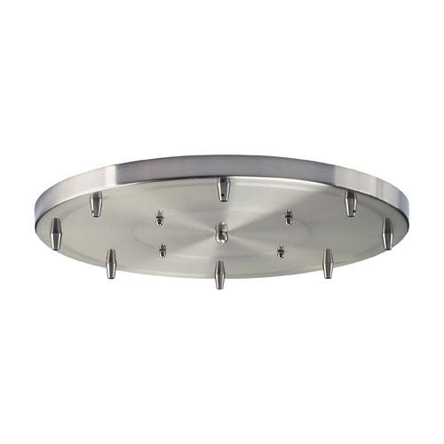 Illuminare Accessories Eight-Light Round Pan in Satin Nickel