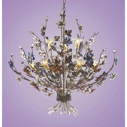 Brillare Nine-Light Bronzed Rust Chandelier