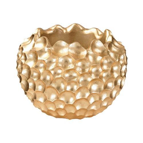 Textured Vessel Gold Vase
