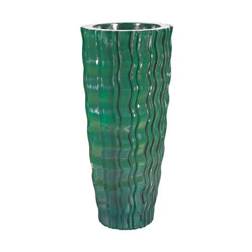 Wave Vessel Emerald Vase