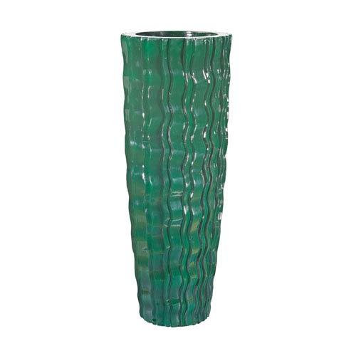 Wave Vessel Emerald 47-Inch Vase