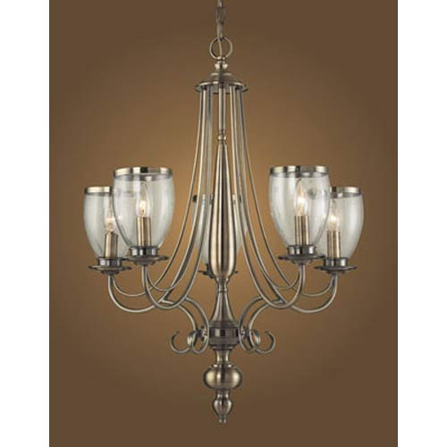 Yorkshire Manor Antique Colonial Five-Light Chandelier
