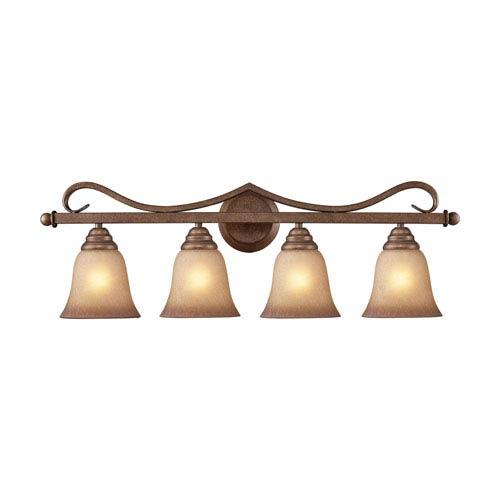 Lawrenceville Mocha Four-Light Vanity