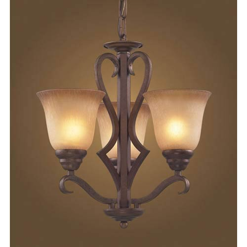 Lawrenceville Three-Light Mocha Chandelier