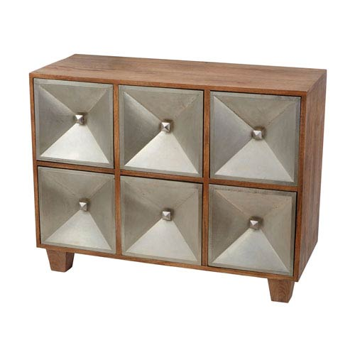 Spencer Natural Mango Wood Six-Drawer Chest