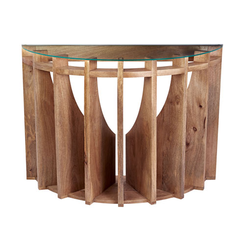 Sundial Natural Mango Console Table