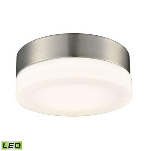Elk Lighting Holmby Satin Nickel LED Six-Inch Flush Mount