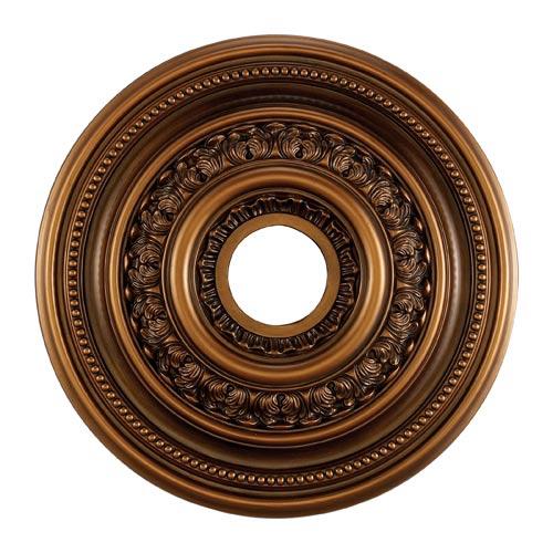English Study Antique Bronze 18-Inch Ceiling Medallion
