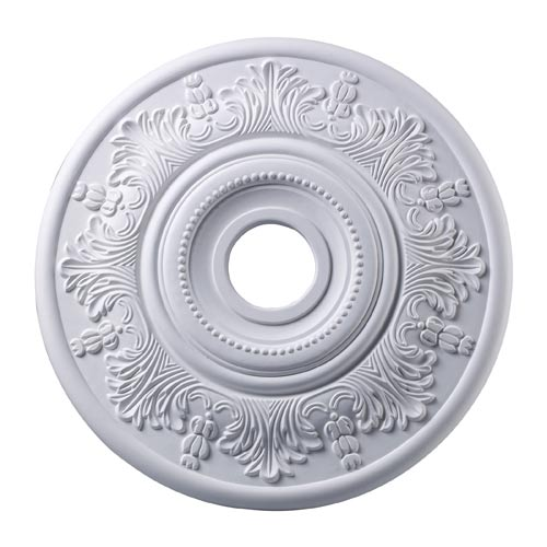 Laureldale White 21-Inch Ceiling Medallion