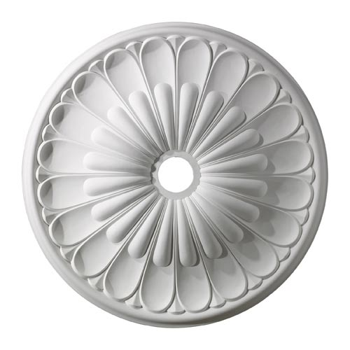 Melon Reed White 32-Inch Ceiling Medallion