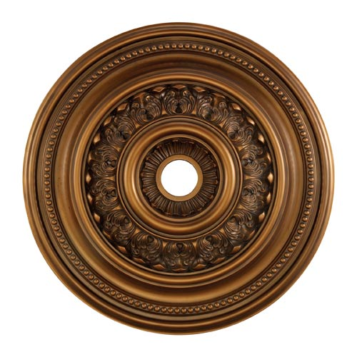 English Study Antique Bronze 32-Inch Ceiling Medallion