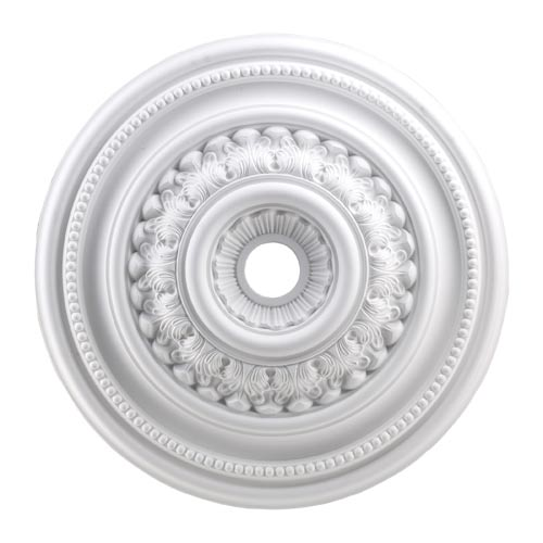 English Study White 32-Inch Ceiling Medallion