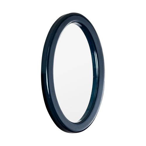 Shelbee Navy Oval Mirror