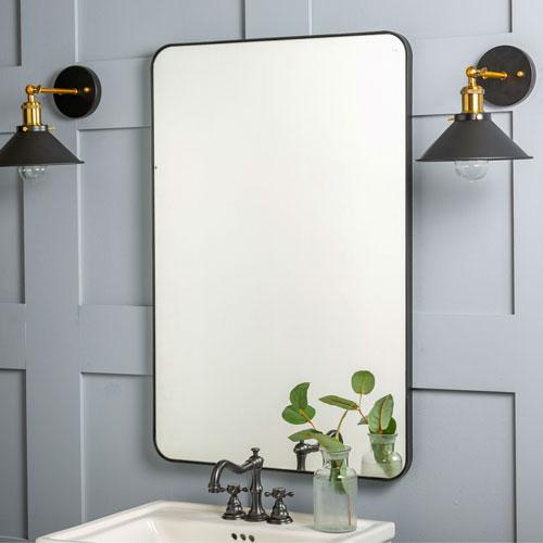 Franco Black Rectangular Mirror